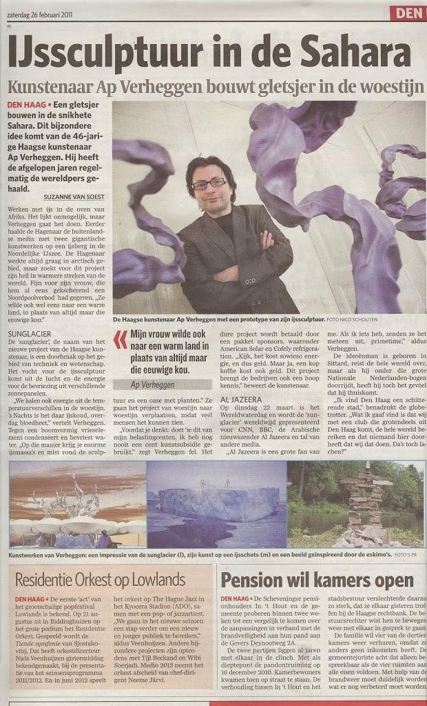 Ap Verheggen interview in Algemeen Dagblad